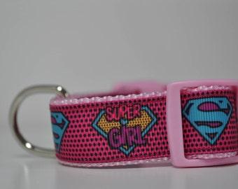 Dog Collar -Girl Power - Super Dog -  50% Profits to Dog Rescue
