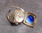 Vintage Lapis Lazuli Bucherer Watch Locket Ring