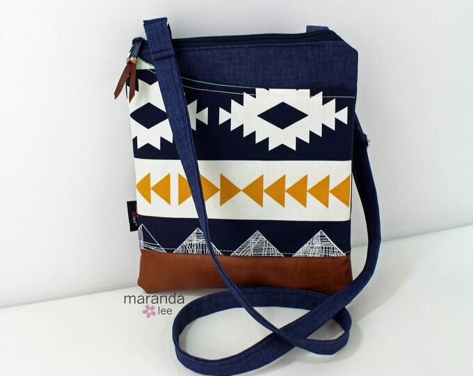 ZOE Messenger Cross Body Sling Bag - Arizona with PU Leather READY to SHIp