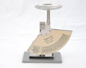 Vintage 1970's Hamilton Postal Scale - Postage Rate Scale - 1 Pound Capacity