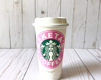 Starbucks Personalized Coffee Cups Front Only