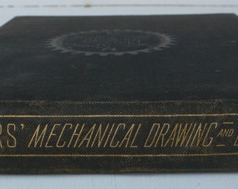 Antique textbook, Roger's Drawing and Design, Mechanical Drawing,Audel, 1919, free shipping, from Diz Has Neat Stuff