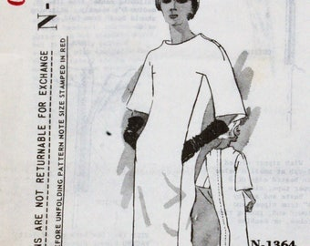 Spadea Martini N-1364 1960s 60s  Designer Mod Sheath Dress Vintage Sewing Pattern Size 10 Bust 34