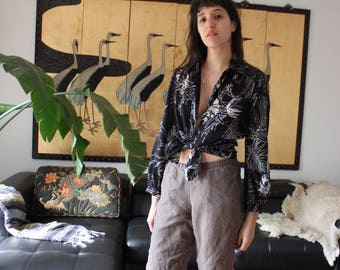 Vintage Lanvin Sheer Button Down Blouse