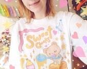 Sleepy Bear Long-sleeved shirt - Pancake Bear Shirt