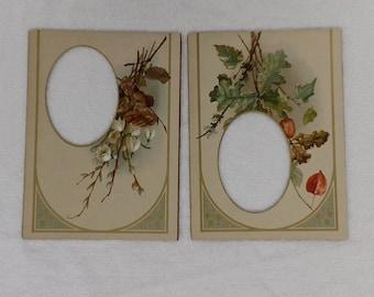 Antique Victorian Edwardian Photo Album Mats