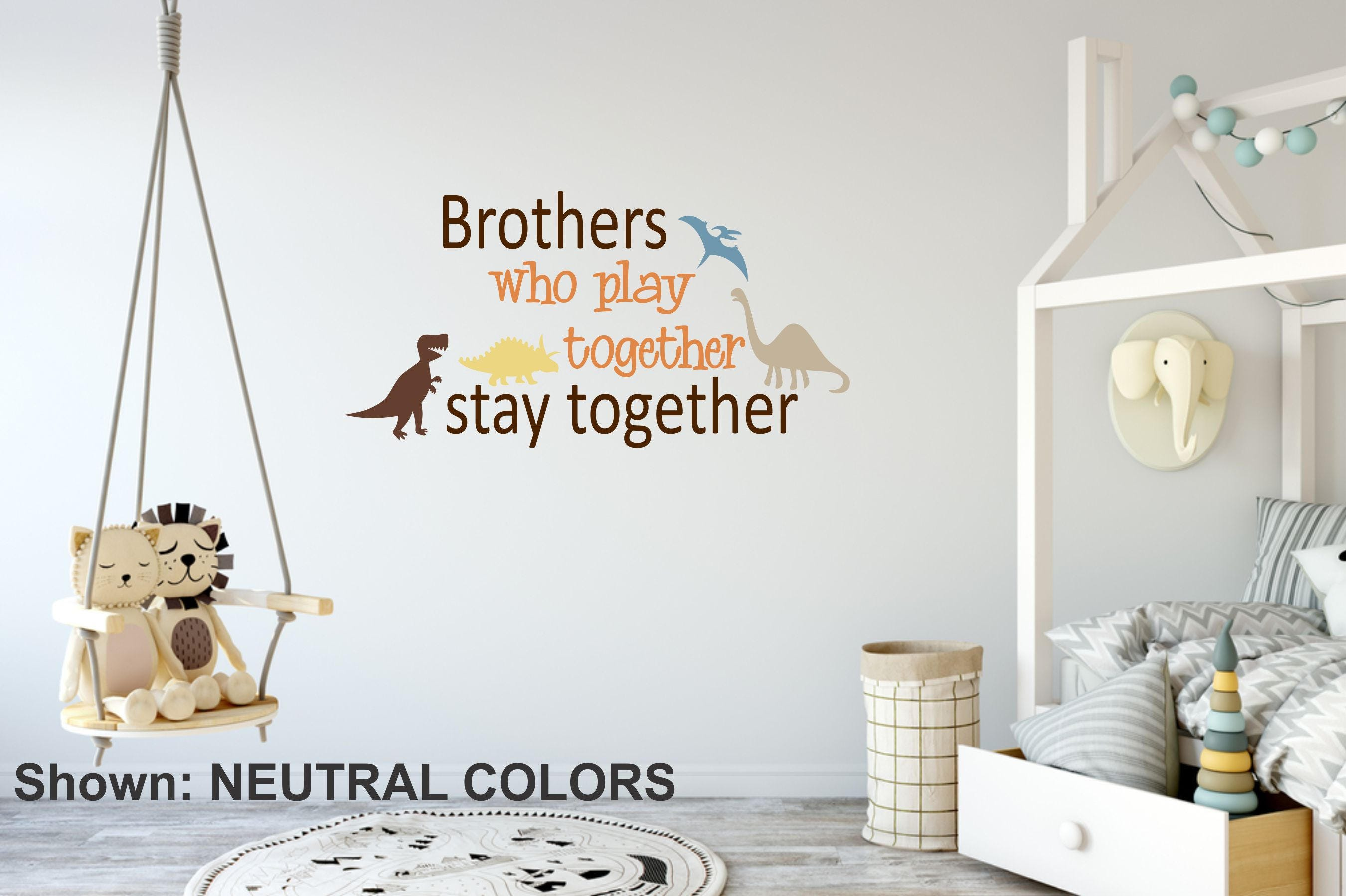 Brothers Boys Name Wall Decal // Neutral Color Boy Nursery // Boys Decor // Customized  Decal // Childrenu0027s Wall Decor // Brothers Sign