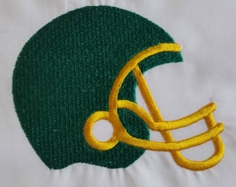 Football Helmet Embroidered Quilt block