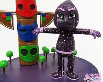 Ninjalino With PJ Masks Headquarters Cake Topper Set