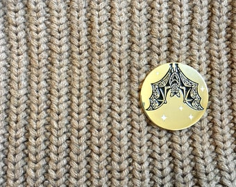 Flying Fox Moon Pin