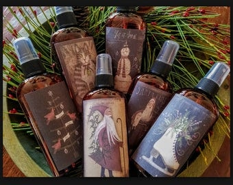 Primitive Room Spray Set ~ Scents of Christmas