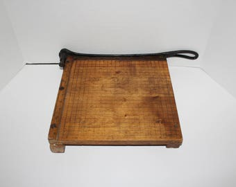 Vintage Large Paper Cutter Ingento No. 4 Ideal School Supply Co