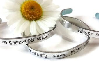 Silver Cuff Bracelet -Electric Forest Accessories -  Lightweight and set of 3 - Follow me to Sherwood forest - Forest Family - Ready to Ship