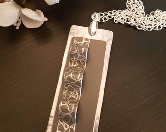 Tag Necklace - Grey