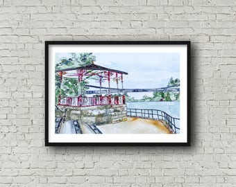 Chester Bandstand - Print