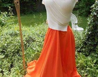 womens runway fashion  flowing floor length skirt custom order