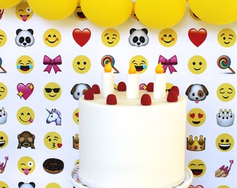 Emoji Party- Table Runner/Backdrop Paper