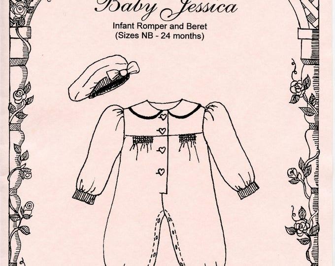 Baby Romper / Bubble pattern / Smocked Pattern /Smocked Romper / Beret / Snap Crotch / Baby Jessica / by Primrose Lane