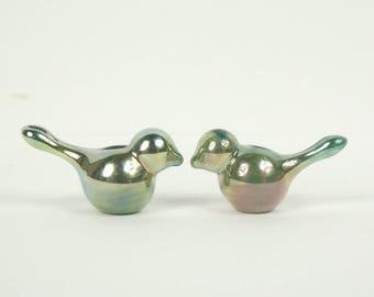 Cute little handmade glass lampwork bird beads. earring bead pair. SRA. Earring pair