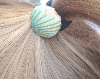 sweet hairdo Japanese style - kawaii coiffure - Japanese comb-out, Elastics decorated with Japanese cotton