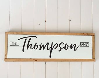 Custom Family Name Wood Sign, Personalized Gift, Personalized Wedding Gift, Last Name Gift, Anniversary Gift, Personalized Gift under 100