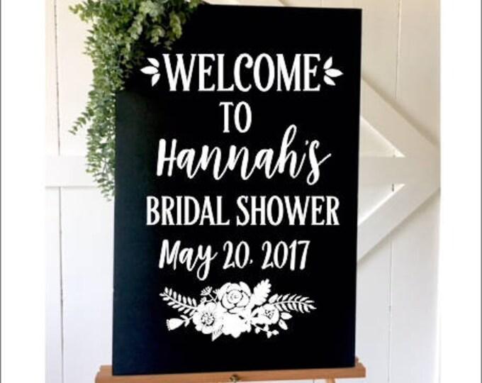 Bridal Shower Decal Personalized Bridal Shower Vinyl Decor DIY Lettering for Chalkboard Rustic Floral Feminine Bridal Shower Bridal Tea