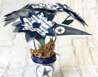 Dallas Cowboys Paper Flower Bouquet