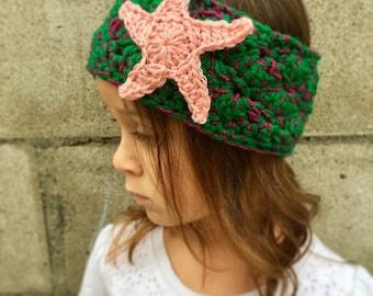 Little Mermaid Inspired Head Wrap