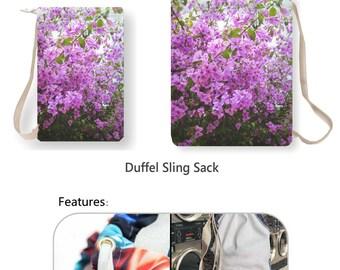 Bougainvillea Duffel Laundry Bag, Flowers Gym Bag, Spring Photo Tote Bag, Spring Shopping Bag, Spring Shoulder Bag, Flowers Blooms Book Bag