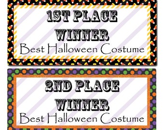 halloween costume certificate template