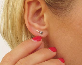 Tiny arrow Stud Earrings - Sterling Silver Arrow Post Studs - Minimalist simple earrings - Minimalist jewelry - arrow studs - chevron studs