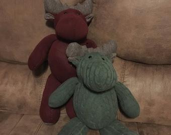 Memory Moose Keepsake made from dad's or grandpa's sweater