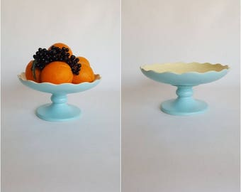Vintage 50s HULL Footed Centerpiece Bowl  Mid Century Home Decor