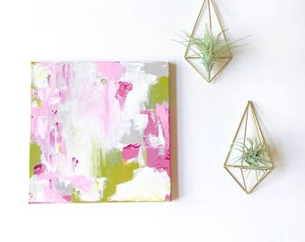 READY to SHP 12 x 12 Painting Original Painting Acrylics on Canvas Art Work Girls Room Decor Office Wall Art Modern Art Abstract Painting