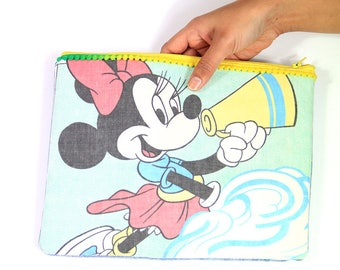 Minnie Mouse cheerleader clutch bag / Accessories bag / Zip bag