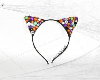 Halloween Cat Ears // Cat Ears Headband // by Born Tutu Rock