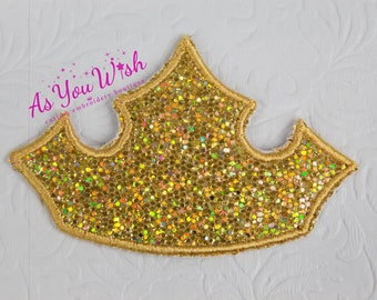 Princess Aurora Sleeping Beauty inspired tiara iron on or sew on patch