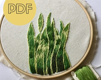 DIY Embroidery Hoop Art | Hand Embroidery Pattern PDF |  Modern Hand Embroidery Pattern | PDF Pattern  Digital Download