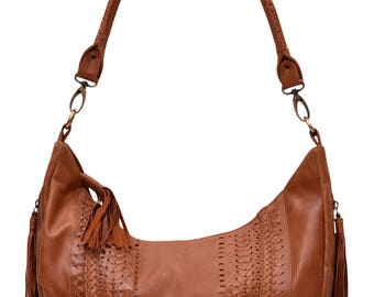 ELYSIAN COAST. Leather hobo bag / leather handbag / leather crossbody bag / crossbody leather purse / boho . Available in different colors