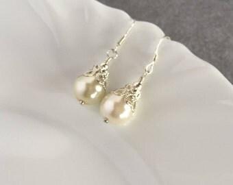 Bridal Earrings Vintage, Bridal Earrings Drop, Pearl Drop Earrings, Pearl Earrings, Wedding Earrings for Brides, Wedding Earrings Drop