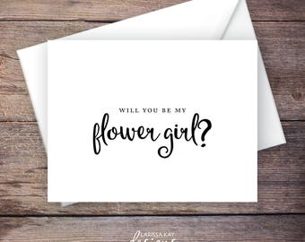 Will You Be My Flower Girl Wedding Card, Printable, Instant Download Greeting Card - Will You Be My Flower Girl, Wedding Card – Carmen