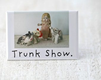 Trunk Show Bisque Doll Claudia Funny Fridge Decoration Elephant Magnet (1)