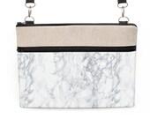 "Marble Laptop Bag, iPad Pro 12.9 Crossbody, MacBook 13"" Shoulder Bag, MacBook Pro 13"" Padded Tote, Zipper Bag - gray white marble"
