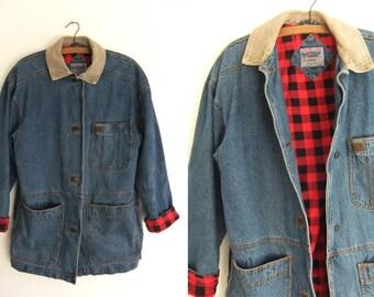 Denim work jacket | Etsy