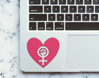 Feminist Vinyl Decal-Girl Power Decal-Feminist Heart Decal-Car Decal-Laptop Decal-Phone Decal-Yeti Decal-Feminist Sticker-Cheap Shipping