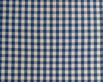Vintage Cotton Check Print Fabric 3 yards and 30 inches long  x 44 in wide