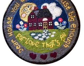 The Little House Hand Hooked Rug