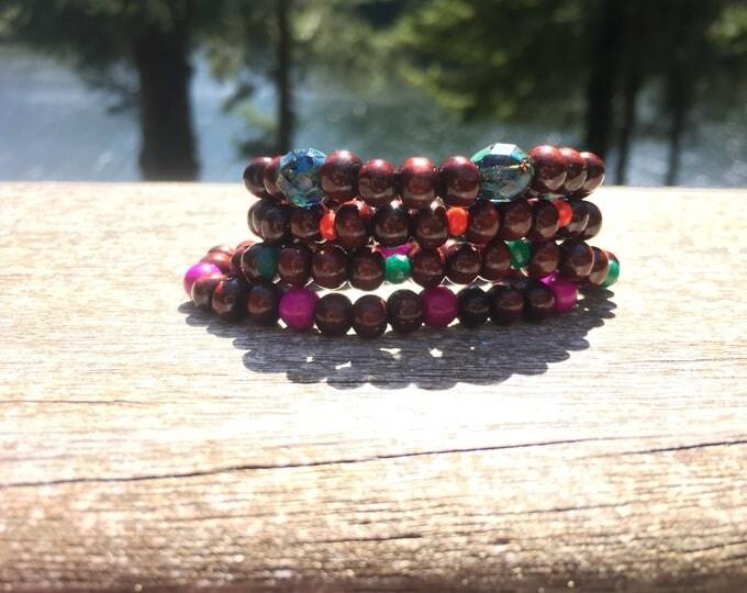 Kid's Summer Stackable Unisex Bracelet Set of Four, Children's stretchy bracelet, bracelets for boys, bracelets for girls