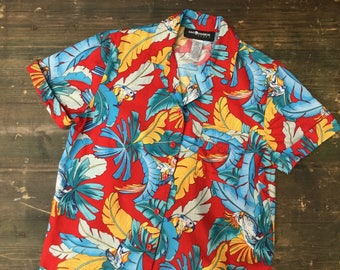 Bird Print Hawaiian Shirt