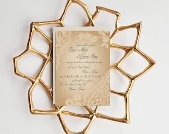 Vintage Wedding Invitations sample - Vintage Lace Wedding Invitations suite {Providence design}